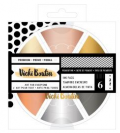 Color Wheel Pigment Ink Pads 6/Pkg - Pre Order